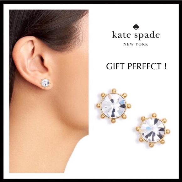kate spade Jewelry - KATE SPADE CRYSTAL STUDS EARRINGS A3C